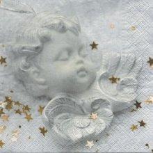 Serviette papier ange et paixl  33 cm X 33 cm 3 plis