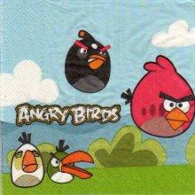 Serviette Angry Birds le jeu de 33 cm X 33 cm 2 plis