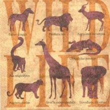 Serviette papier animaux d' Afrique  33 cm X 33 cm 3 plis