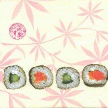 Serviette Asie motif Sushis 33 cm X 33 cm 3 plis