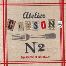 Serviette papier Atelier Cuisine 33 cm X 33 cm 3 plis