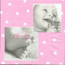 Serviette papier Bébé fille 33 cm X 33 cm 3 plis