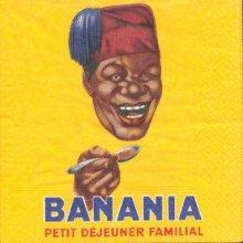 Serviette papier motif Banania  de 33 cm X 33 cm 3 plis
