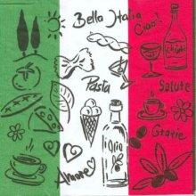 Serviette papier  motif Bella Italie 33 cm X 33 cm 3 plis