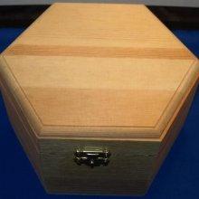 Boîte à bijoux en bois 130 mm 110 mm x 65 mm