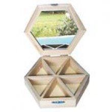 Boite à bijoux hexagone 160 x 40 mm
