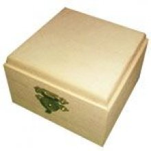 Boîte à bijoux en bois 90 mm x 90 mm x 60 mm