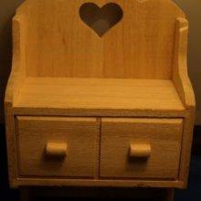 Petite boite à clé avec 2 tiroirs 10, 5 cm x 5 cm x 18 cm