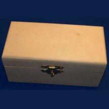 Boîte à bijoux en bois 125 mm x 70 mm x 50 mm