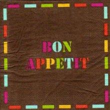 Serviette papier Bon Appetit de 33 cm X 33 cm 3 plis
