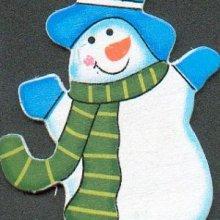 Bonhomme de neige en bois avec chapeau
