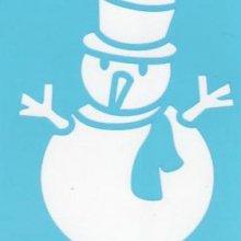 Pochoir bonhomme de neige avec chapeau pour décoration