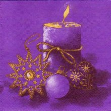 Serviette papier Bougie de Noël 40 cm X 40 cm 3 plis