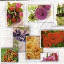 Serviette papier bouquets de fleurs 33 cm X 33 cm 3 plis