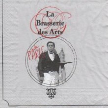 Serviette papier brasserie des Arts de 33 cm X 33 cm 3 plis