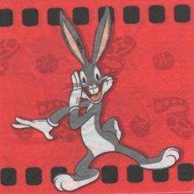 Serviette papier Bug Bunny de 33 cm X 33 cm 2 plis