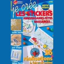 Livre Je crée les stickers Spécial enfants