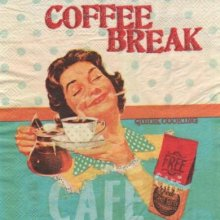 Serviette papier café break de 33 cm X 33 cm