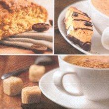 Serviette papier café et gâteaux de 33 cm X 33 cm