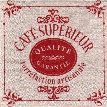 Serviette papier Café supérieur de 33 cm X 33 cm 3 plis