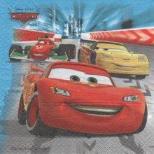 Serviette papier Cars2 et Sally de 33 cm X 33 cm 2 plis