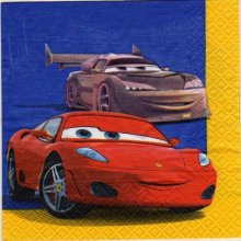 Serviette papier motif Car et Doc de 33 cm X 33 cm 2 plis
