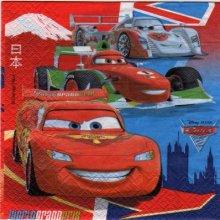 Serviette papier Cars2 le film de 33 cm X 33 cm 2 plis