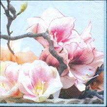 Serviette papier motif fleurs cerise de 33 cm X 33 cm 3 plis