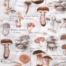 Serviette papier motif champignons et Automne de 33 cm X 33 cm