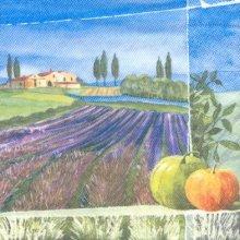 Serviette papier  motif champs lavande 33 cm X 33 cm 3 plis