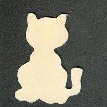 Support bois chat en bois à peindre 50 mm x 35mm