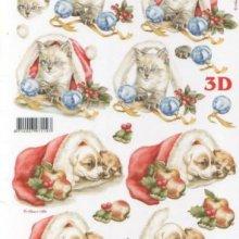 Feuilles à découper 3D chatons de Noël