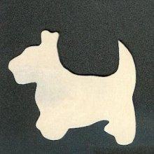 Support bois chien en bois à peindre 50 mm x 35mm