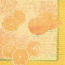 Serviette papier citrons et agrume 33 cmX33 cm 3 plis