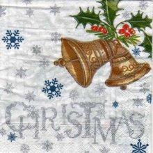 Serviette papier cloche de Noël 33 cm X 33 cm 3 plis