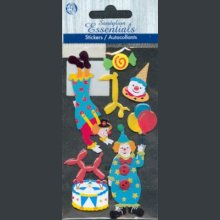 Stickers 3D clown et cirque