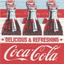 Serviette papier Coca Cola et bouteille 33 cm x 33 cm 3 plis