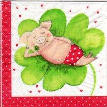 Serviette papier cochon 33 cm X 33 cm 3 plis