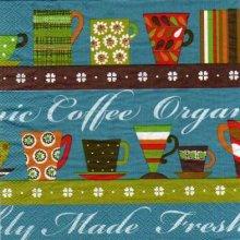 Serviette papier motif Coffée Cup de 33 cm X 33 cm 3 plis