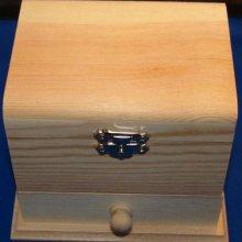 Boîte à bijoux en bois 125 mm x 95 mm x 100 mm avec miroir