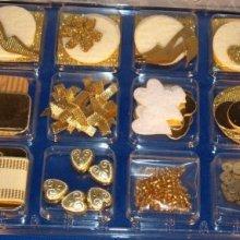Coffret décoration scrap or