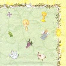 Serviette papier motif communion de 33 cm X 33 cm 3 plis
