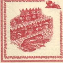 Serviette papier Confiture Antan 33cm X 33 cm 3 plis