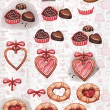 Feuilles 3D cookie et gâteaux