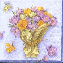 Serviette papier motif corbeille fleurs 25 cm X 25 cm 3 plis