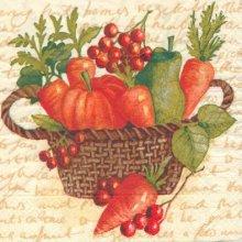 Serviette papier corbeille de légumes  de 33 cm X 33 cm