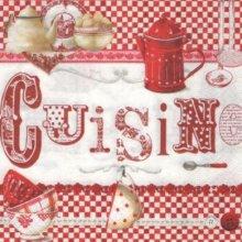 Serviette papier cuisine rouge 33 cm X 33 cm 3 plis