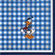 Serviette papier Donald en marin de 33 cm X 33 cm 3 plis