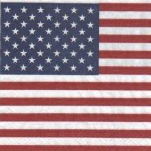 Serviette papier drapeau Américain 33 cm X 33 cm 3 plis