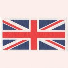 Serviette papier drapeau anglais 33 cm X 33 cm 3 plis